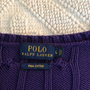 Polo by Ralph Lauren Sweaters - Ralph Lauren V-neck Cable knit sweater, purple